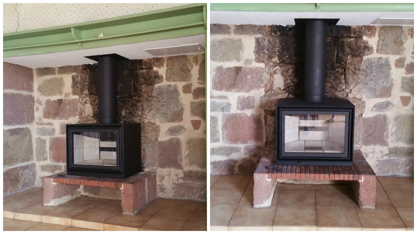 poele a bois a integrer dans une cheminee. Black Bedroom Furniture Sets. Home Design Ideas