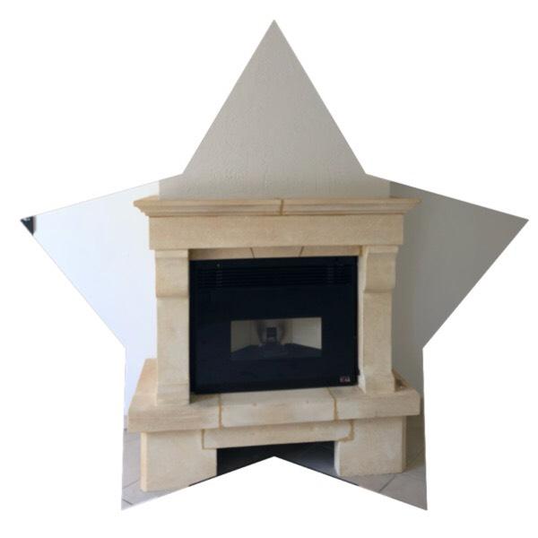 Aménagement cheminée insert à granulés