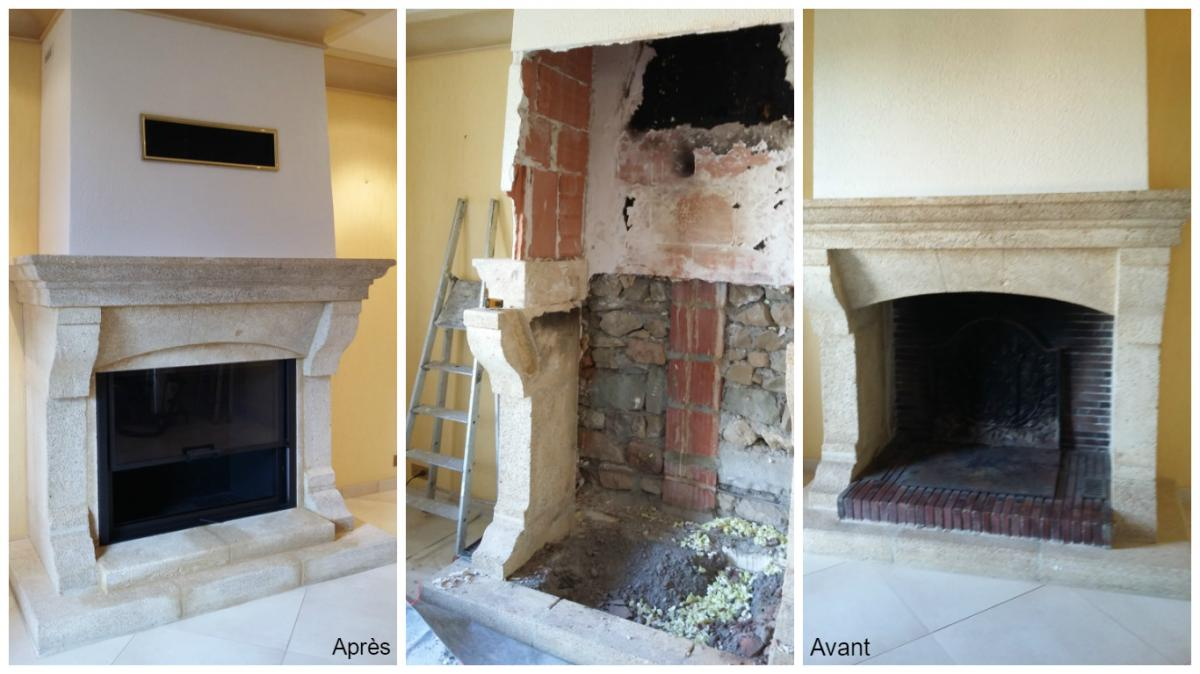 aménagement cheminée